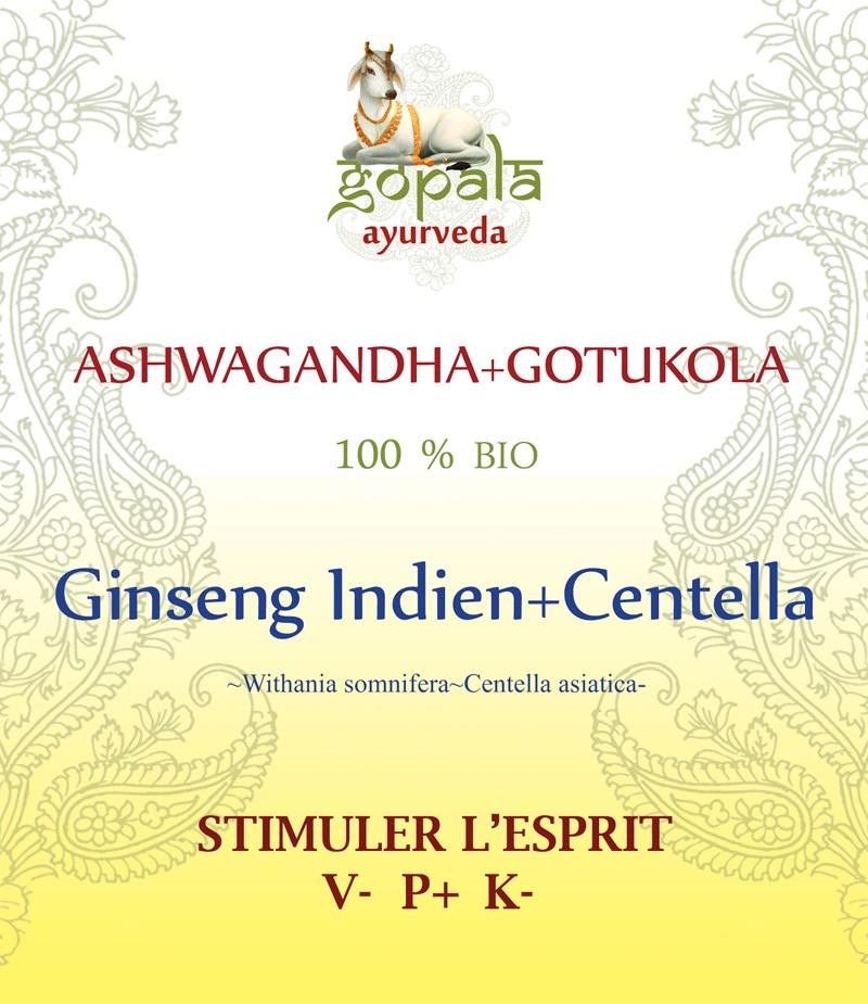 ASHWAGANDHA + GOTUKOLA (Withania somnifera~Centella asiatica) BIO Gopala A.