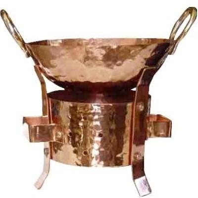 Copper Kadai (Karahi) & Sigri Set