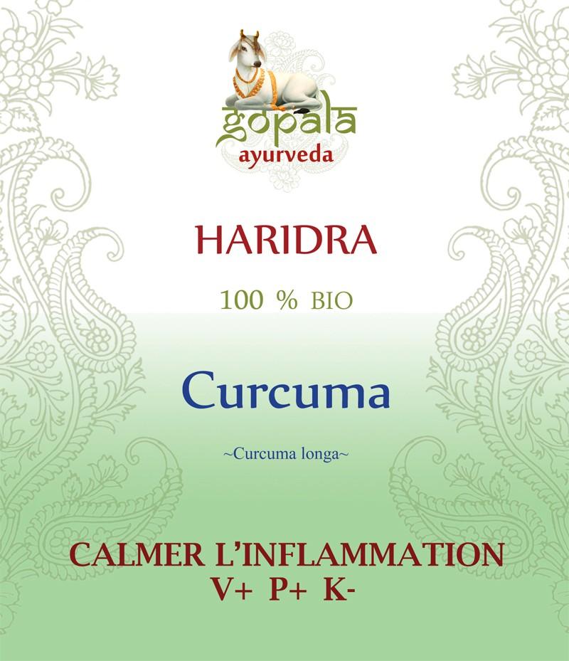 HARIDRA -Curcuma-(Curcuma longa) BIO Gopala A.