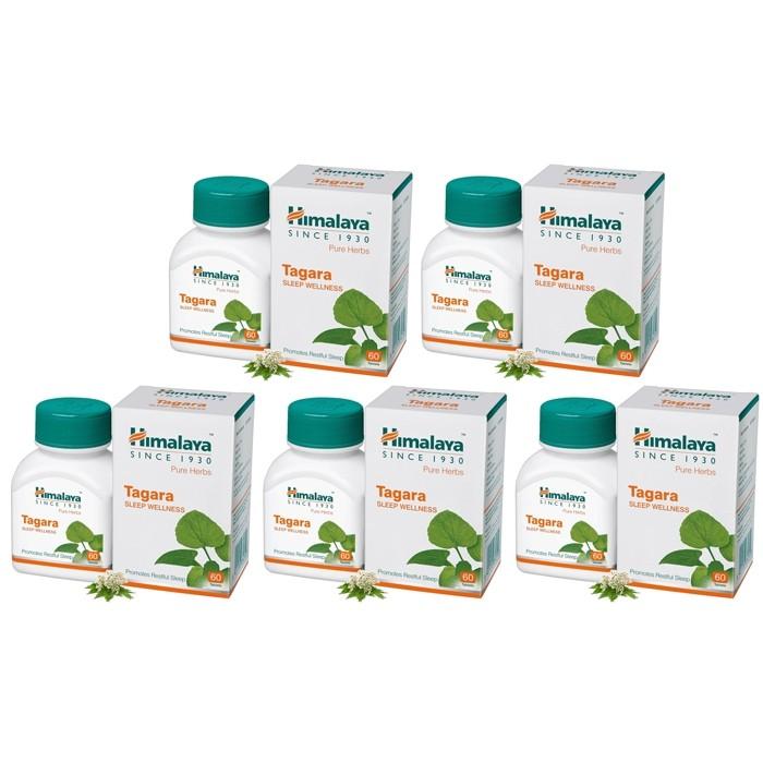 Himalaya TAGARA VALERIAN (5 paquets de 60 comprimés) - complément alimentaires Ayurvédique