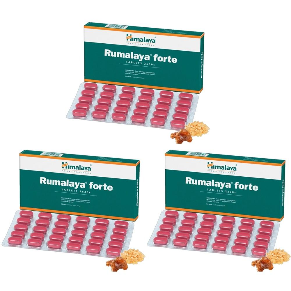Himalaya RUMALYA FORTE (3 paquets de 60 comprimés) - complément alimentaires Ayurvédique