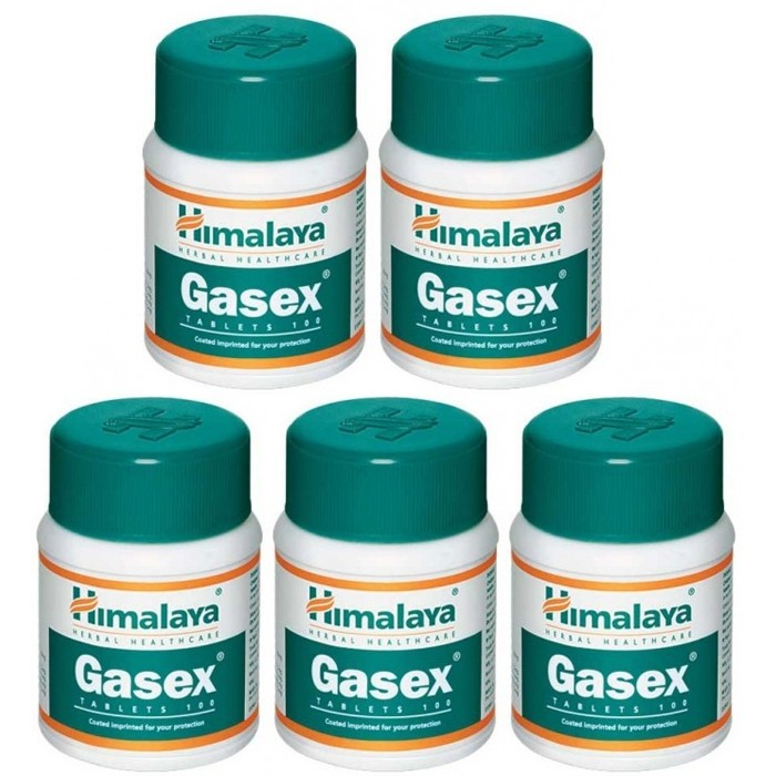 Himalaya GASEX (5 paquets de 100 comprimés) - complément alimentaires Ayurvédique