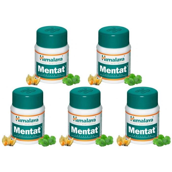 Himalaya MENTAT (5 paquets de 60 comprimés) - complément alimentaires Ayurvédique