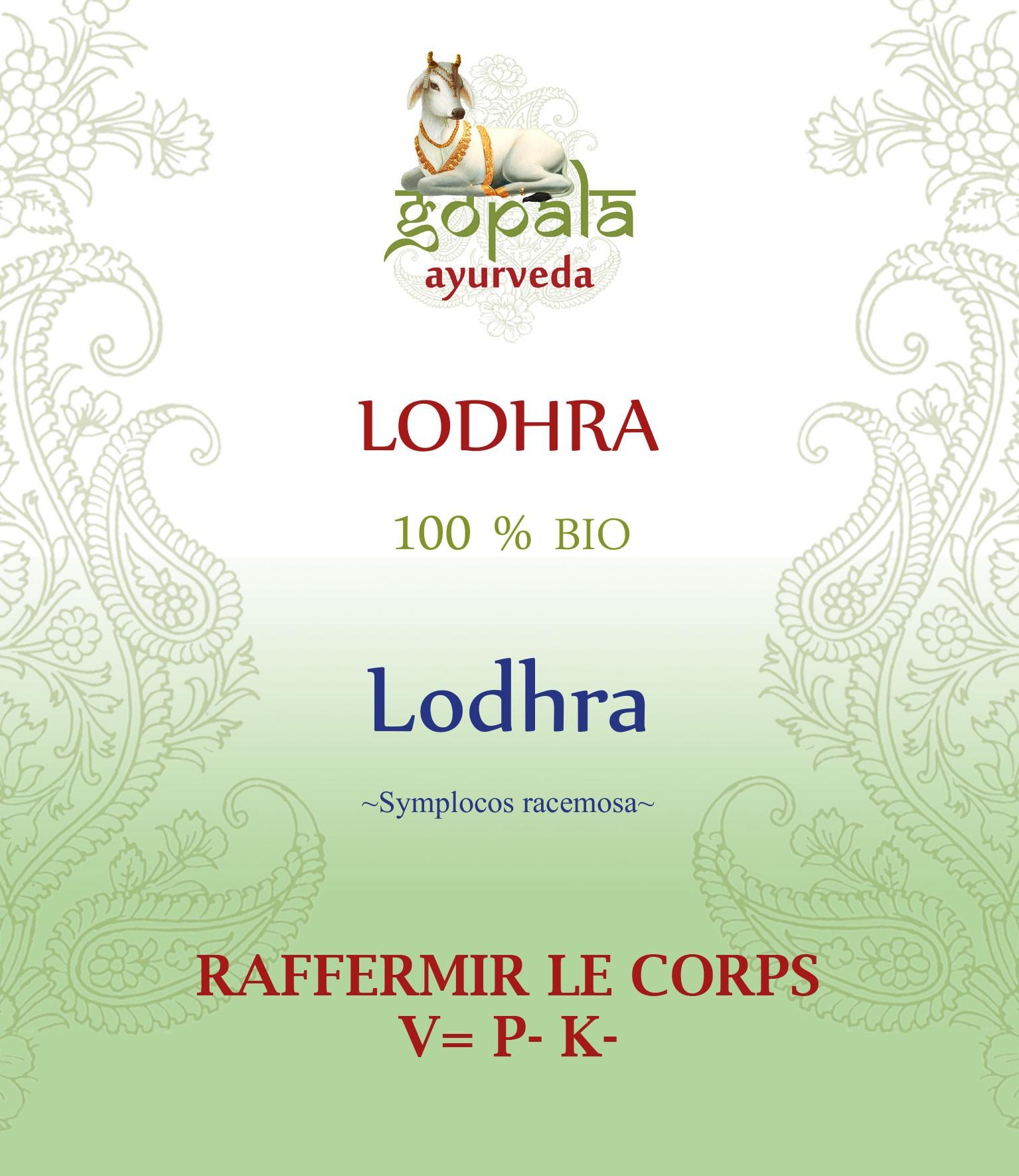 LODHRA (symplocos racemosa) BIO Gopala A