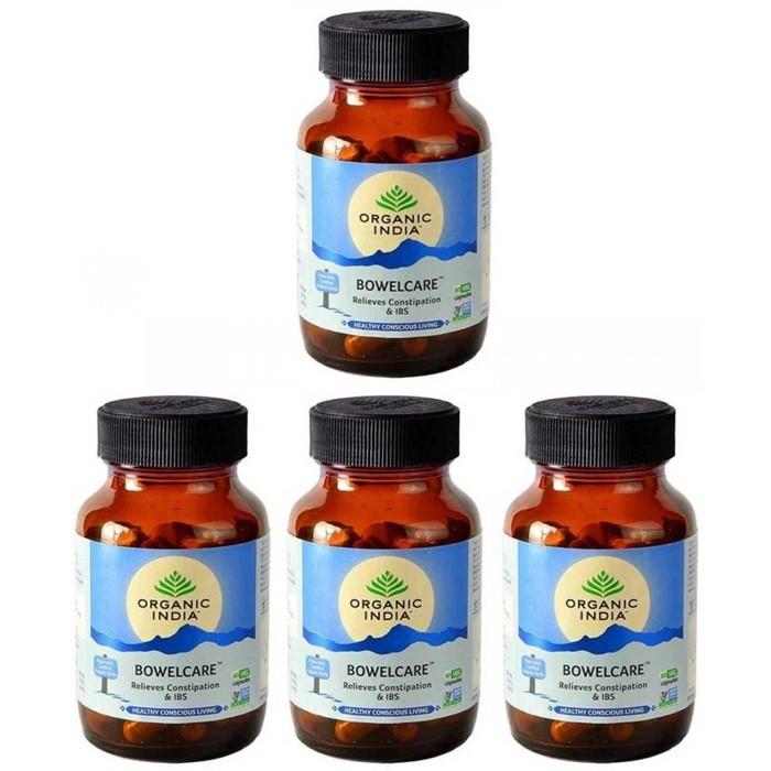 Organic India BRAHMI BIO (4 paquets de 60 gélules végétales) - Plante ayurvédique traditionnelle - 100% certifiées biologiques