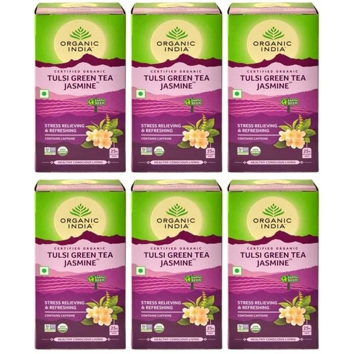 Organic India TULSI JASMIN GREEN TEA (25 sachets)