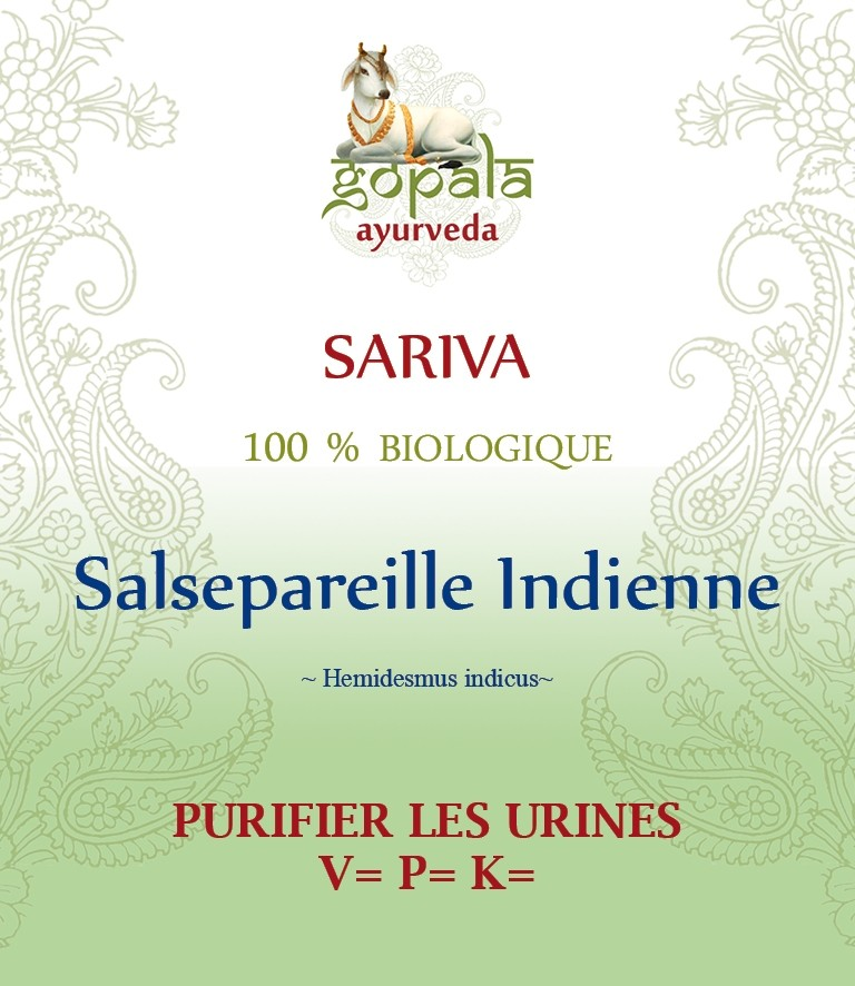 SARIVA (Hemidesmus indicus) BIO Gopala A.