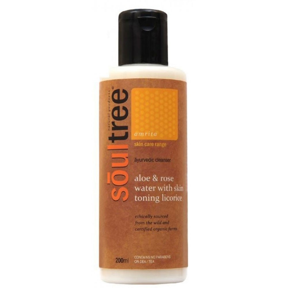 Soultree Aloe and Rose Water Cleansing Milk with Skin Toning Licorice