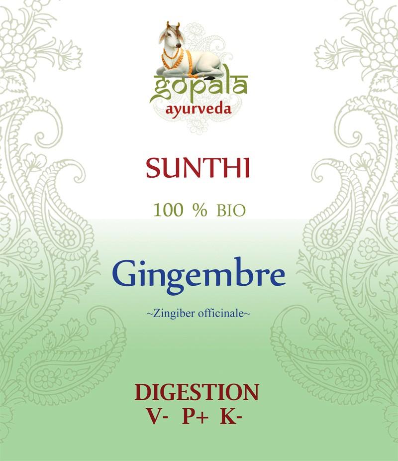 SUNTHI-Gingembre ( Zingiber officinale) BIO Gopala A.