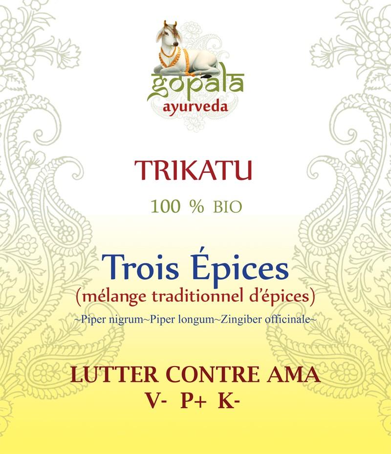TRIKATU (Piper nigrum,Piper longum,Zingiber officinale) BIO Gopala A.