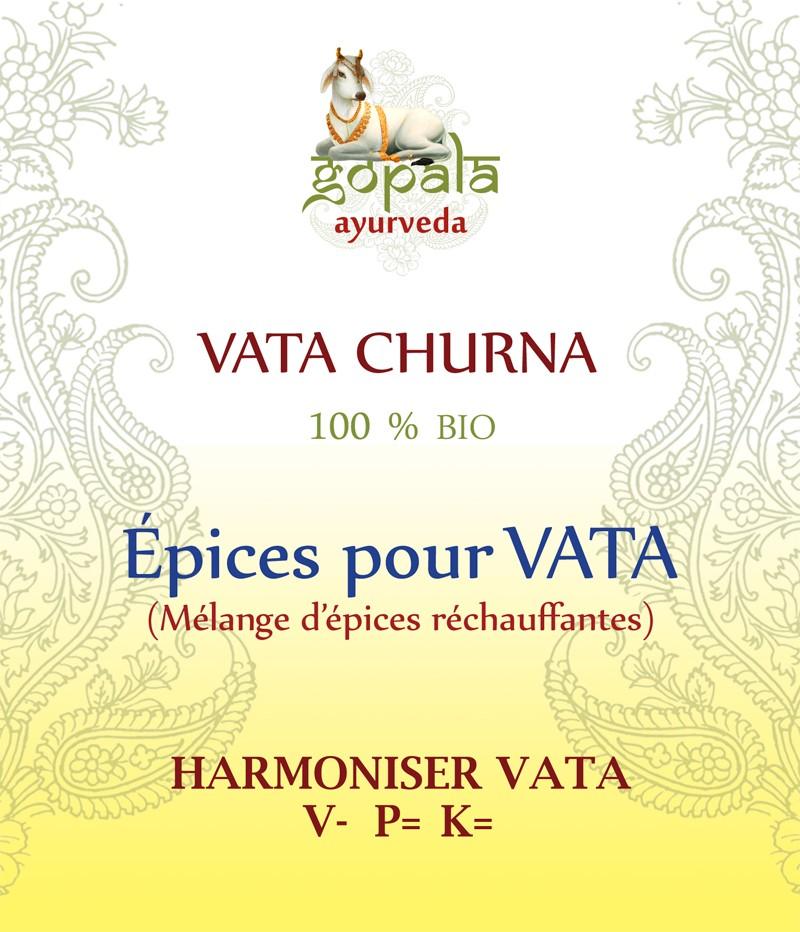 VATA SPICES (mélange d'épices) BIO Gopala A.